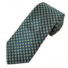 Shades of Blue & Brown Patterned Men's Tie