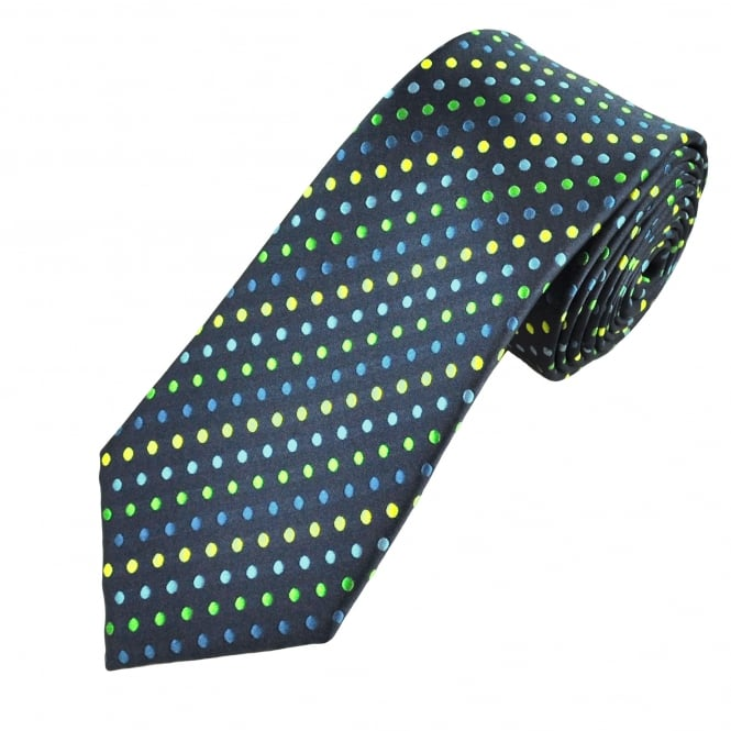 Shades Of Blue, Green & Yellow Polka Dot Men's Tie