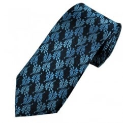 Shades of Blue Paisley Patterned Men's Silk Tie