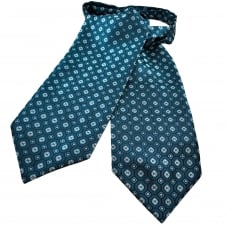 Shades Of Blue & Silver Patterned Casual Day Cravat
