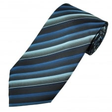 Shades of Blue Stripe Patterned Men's Tie