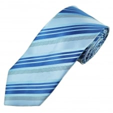 Shades of Blue Striped Men's Tie