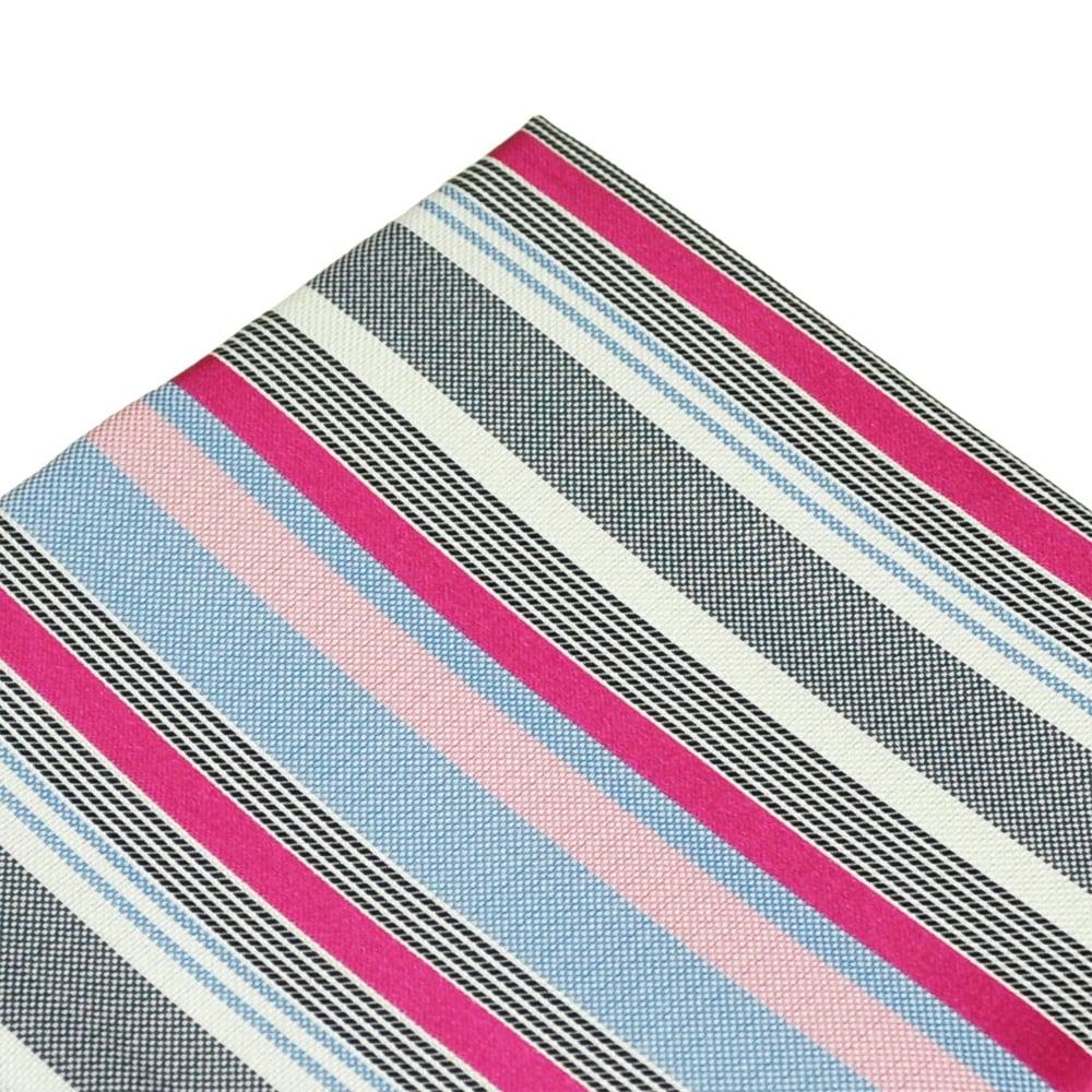 0da88e5e97174 Shades Of Blue, White & Pink Striped Silk Pocket Square Handkerchief from  Ties Planet UK