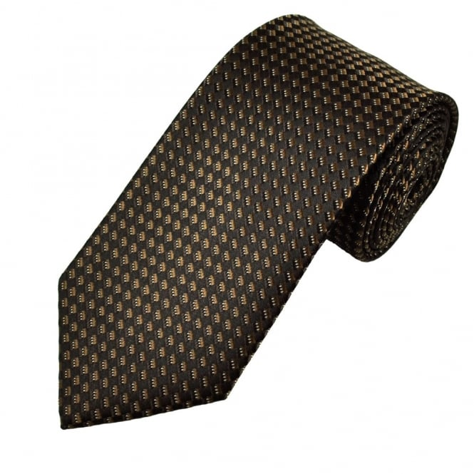 Shades of Brown Square Patterned Men's Tie