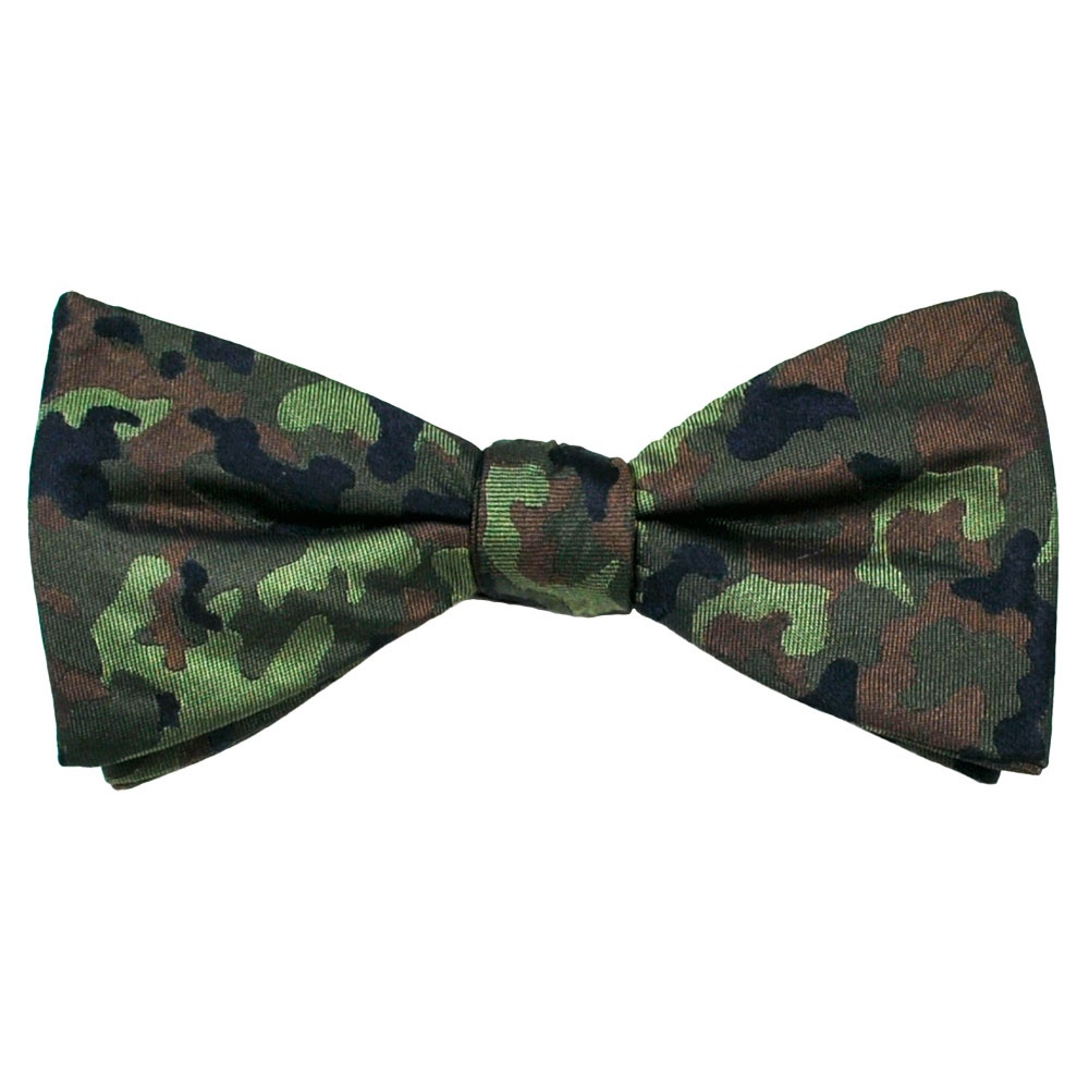 shades of green navy blue camouflage s silk bow tie