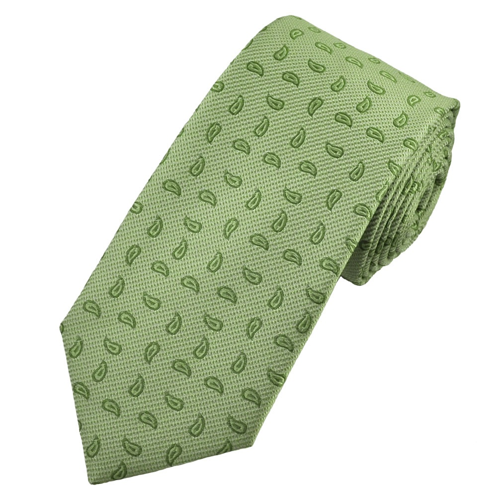 shades of green paisley shadow stripes tie from