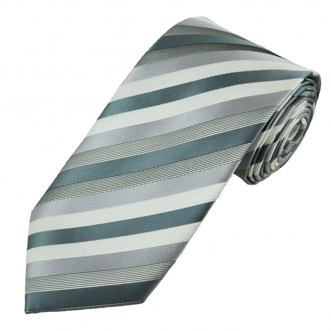 Shades of Grey Striped Men's Tie