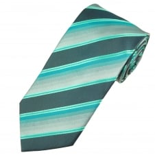 Shades of Grey, Turquoise & Teal Men's Tie