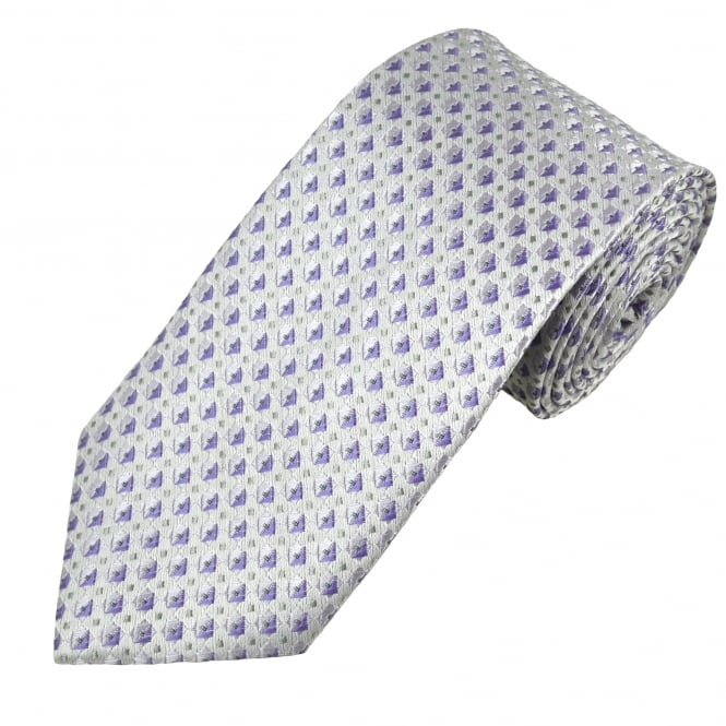 Shades of Lilac Patterned Men's Tie