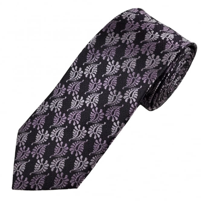 Shades of Pink Paisley Patterned Men's Silk Tie