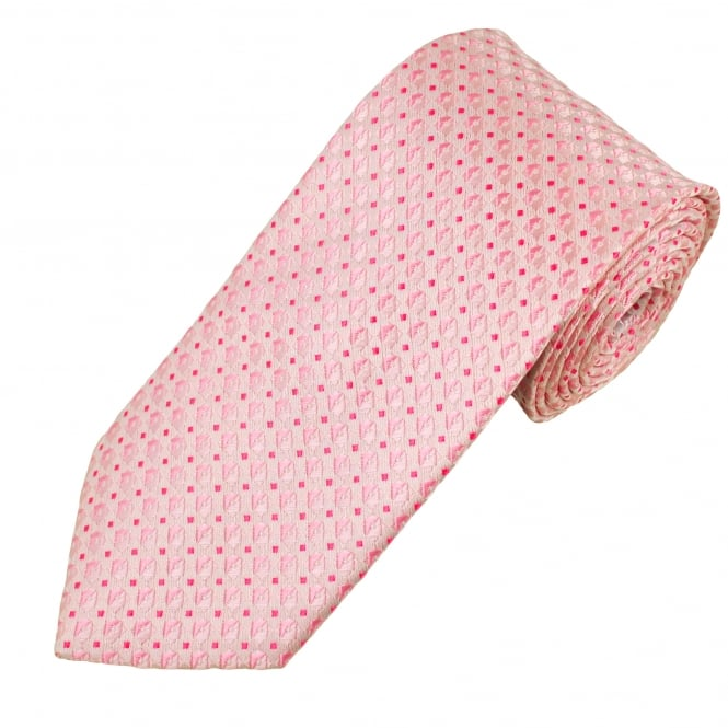 Shades of Pink Patterned Men's Tie