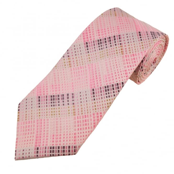 Shades of Pink, Purple & Gold Patterned Boys Tie