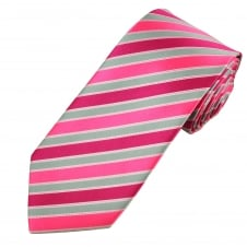 Shades Of Pink & Silver Striped Men's Tie