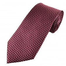 Shades Of Pink Zig Zag Patterned Men's Silk Tie