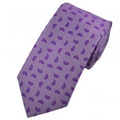 Shades of Purple Paisley with Fine Shadow Stripes Tie
