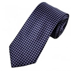 Shades of Purple Squares Patterned Men's Tie
