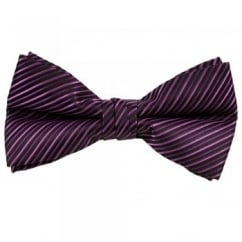 Shades of Purple Striped Bow Tie