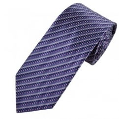 Shades of Purple, Turquoise & White Patterned Men's Silk Tie