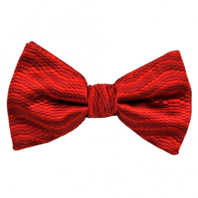 Shades of Red Patterned Silk Bow Tie