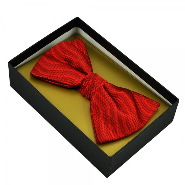 Shades Of Red Patterned Silk Bow Tie From Ties Planet UK