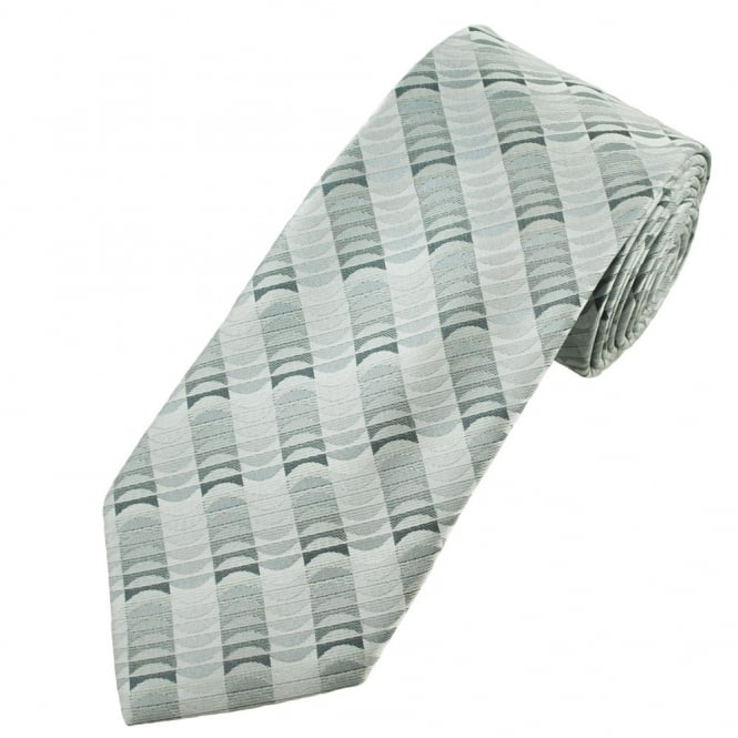 Shades of Silver Patterned Men's Tie