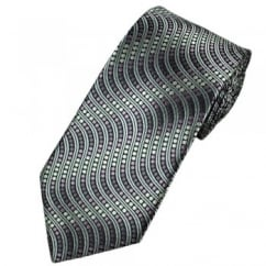 Shades of Silver & Purple Spots & Waves Tie