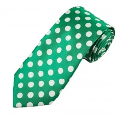 Shamrock Green & White Polka Dot Tie