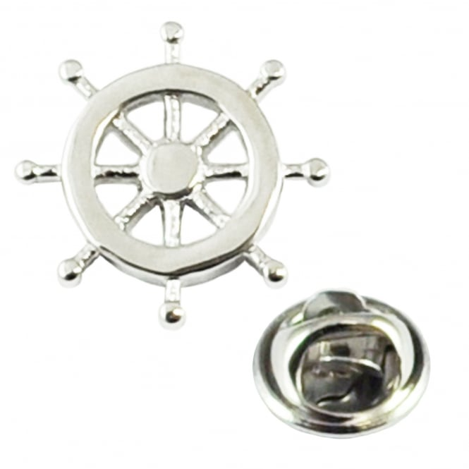 Ship Wheel Lapel Pin Badge