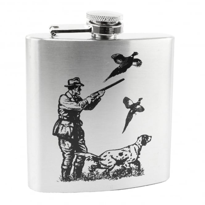 Shooting Scene 6oz Stainless Steel Hip Flask