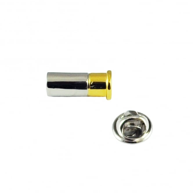 Shotgun Cartridge Lapel Pin Badge