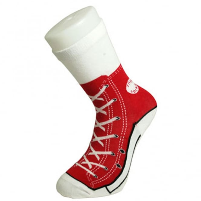 Silly Socks - Men's Novelty Red Sneaker Socks