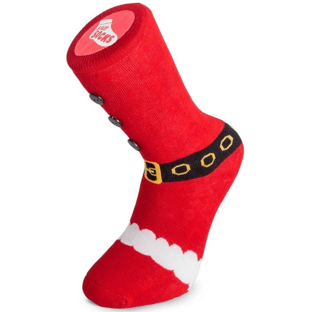 Silly Socks - Santa Claus Boot Men's Novelty Christmas Slipper ...