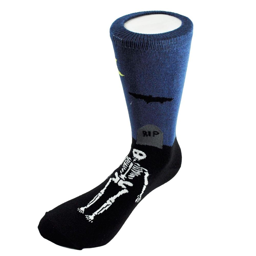 Ties planet silly socks skeletons in graveyards men s novelty
