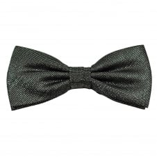 Silver & Black Luxury Silk Lurex Men's Bow Tie