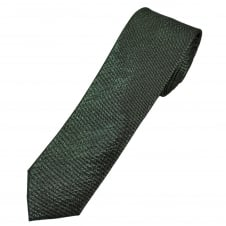 Silver & Black Luxury Silk Lurex Men's Skinny Tie
