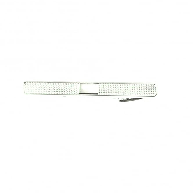 Silver Checked Tie Bar