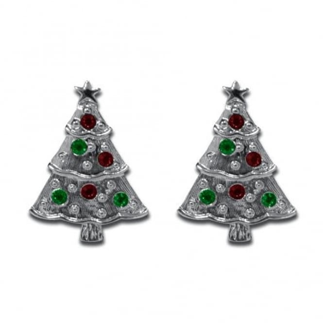 Silver Christmas Tree Cufflinks