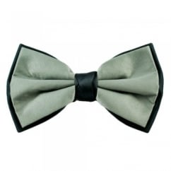 Silver & Grey Double Coloured Bow Tie