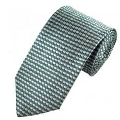 Silver & Grey Hexagon & Square Patterned Tie