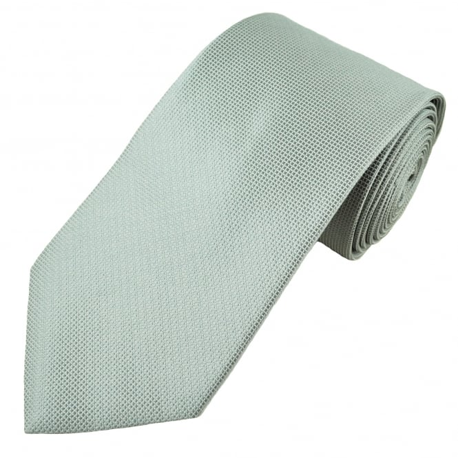 Silver Grey Micro Check Men's Tie