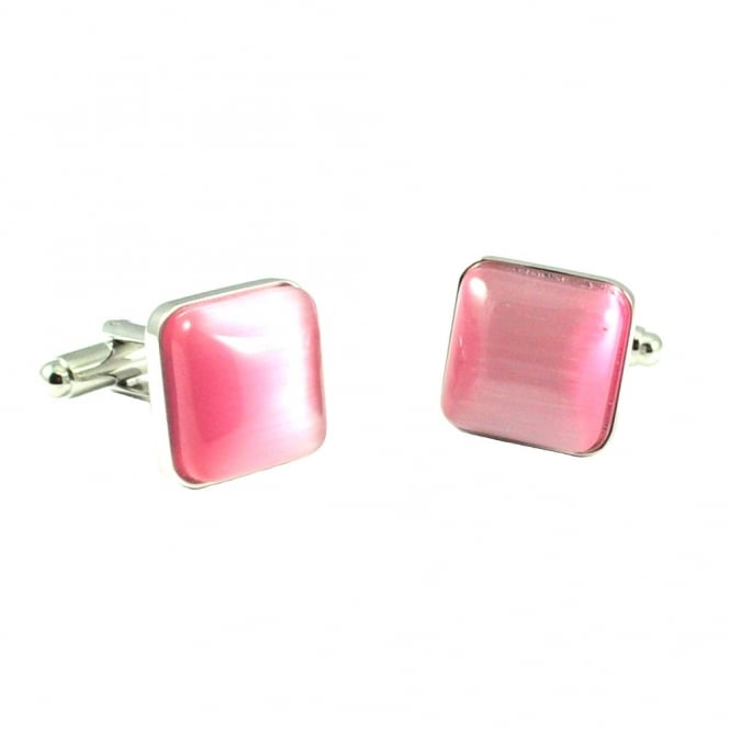 Simon Carter Catseye Spangle Pink Cufflinks