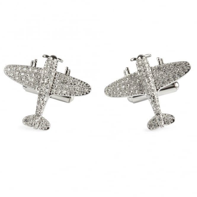 Simon Carter Crystal Spitfire Cufflinks - 25th Anniversary Cufflinks