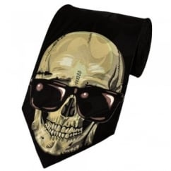 Skull In Sunglasses Novelty Tie