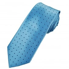 Sky Blue & Navy Blue Polka Dot Men's Tie
