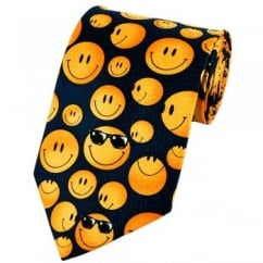 Smiley Faces Silk Novelty Tie