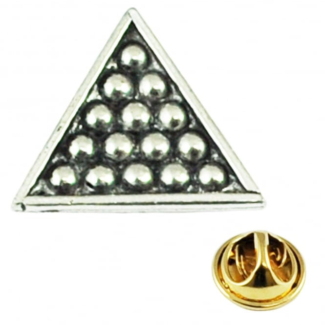 Snooker Balls Triangle English Pewter Lapel Pin Badge
