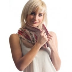Soft Mink Jacquard Knitted Snood