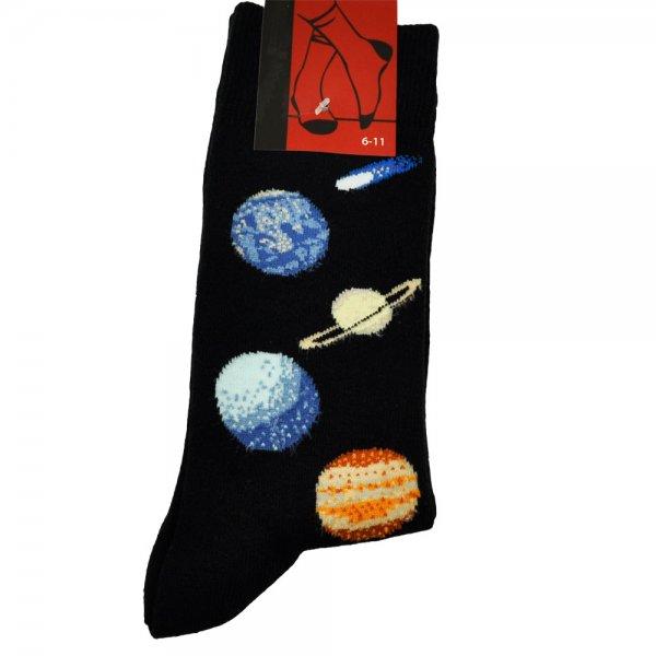 Solar System Blue Planets Men S Novelty Socks From Ties