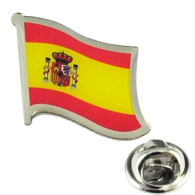 Spain Flag Lapel Pin Badge