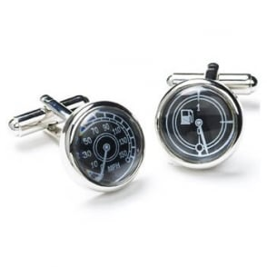 Speedo & Petrol Gauge Novelty Cufflinks